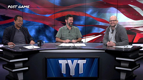 Hank Thompson on a the Post-game show at The Young Turks