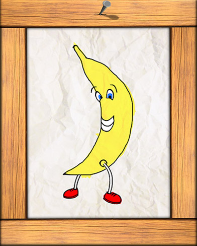 Portrait of a smiling banana